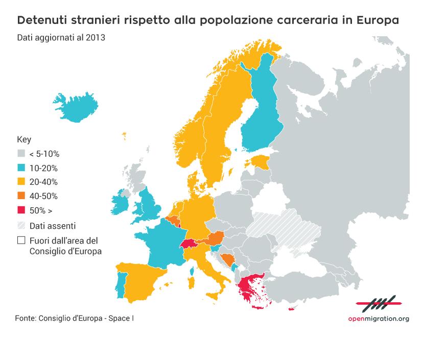 Tutti i numeri sugli stranieri in carcere in Europa e in Italia  Open Migration