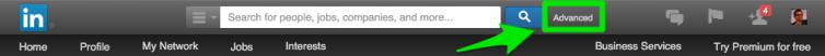LinkedIn Search Window