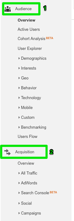 Google Analytics Tabs 1