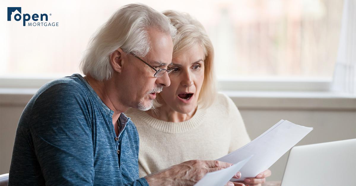 Older couple shocked at paperwork