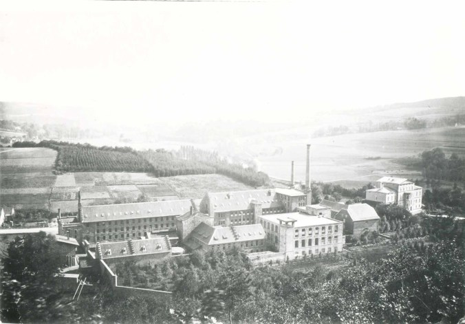Ermen & Engels, Fabrikanlage, Aufnahme ca. 1868