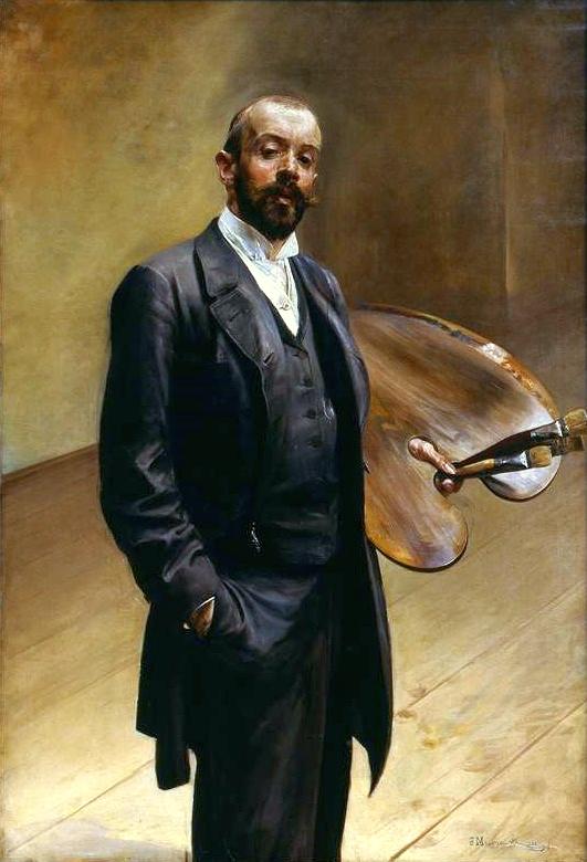 Jacek Malczewski: Selbstporträt mit Palette, 1892, Nationalmuseum Warschau