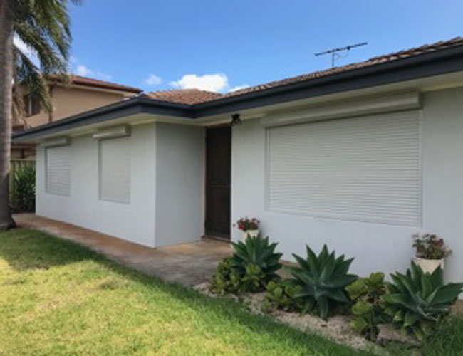 Large White Roller Shutters Local Adelaide Installation