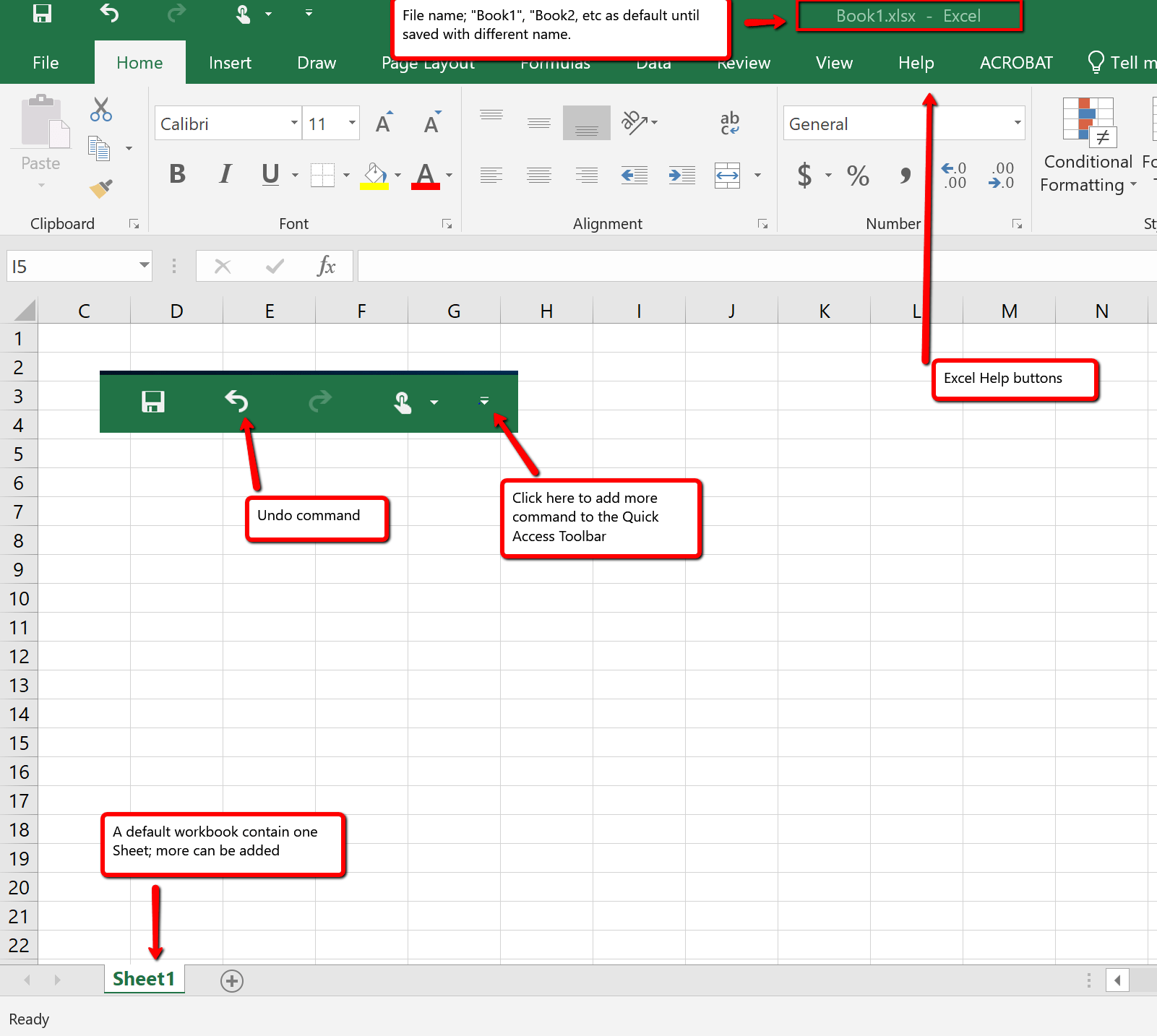 1 1 Overview Of Microsoft Excel Beginning Excel