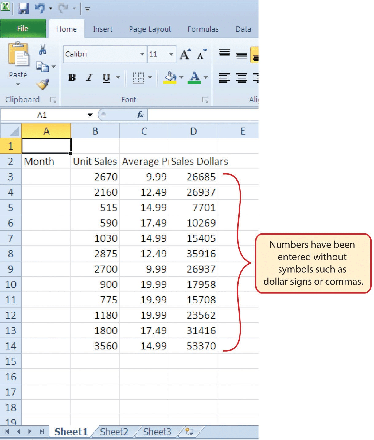 1 2 Entering Editing And Managing Data Beginning Excel