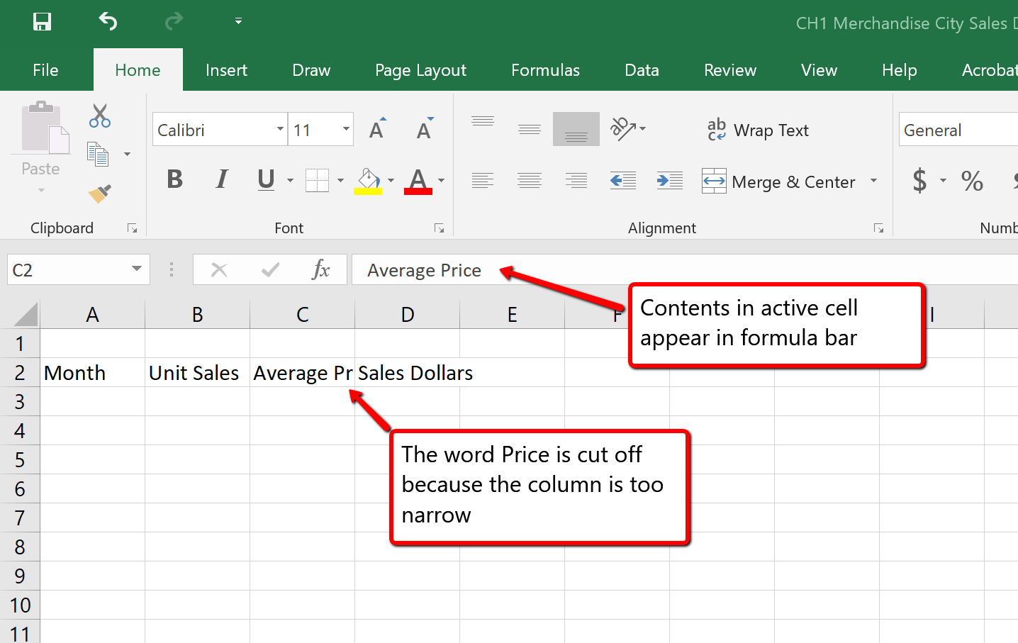 1 2 Entering Editing And Managing Data Beginning Excel