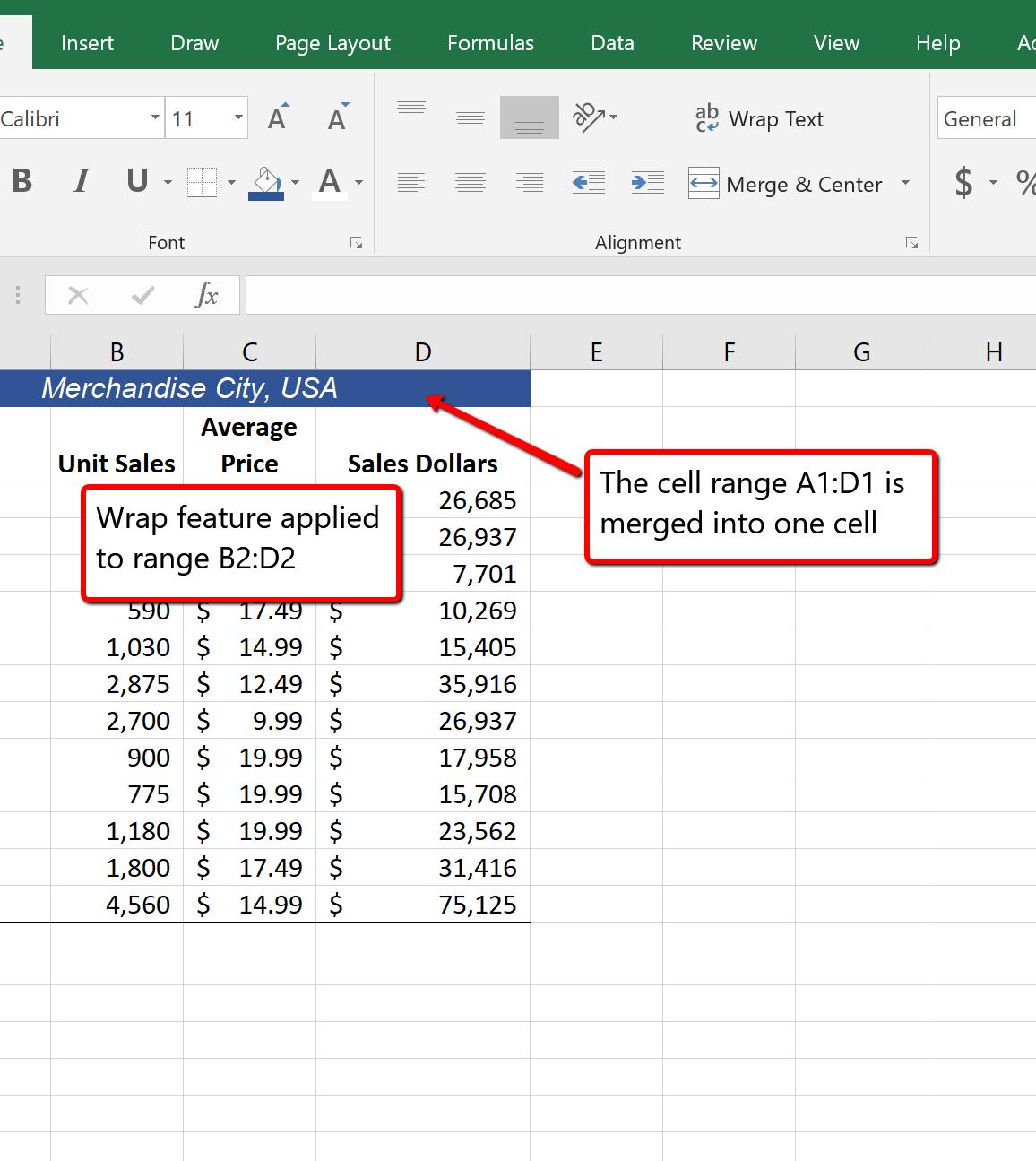 1 3 Formatting And Dataysis Beginning Excel