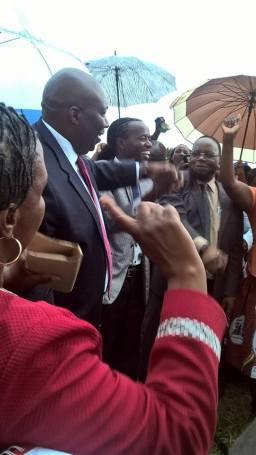 MP Mudambo with Hon Kasukuwere and Hon Dokora during the c