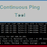 Continuous Ping Tool