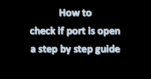 check if port is open