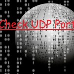 How to check UDP port status open or not.