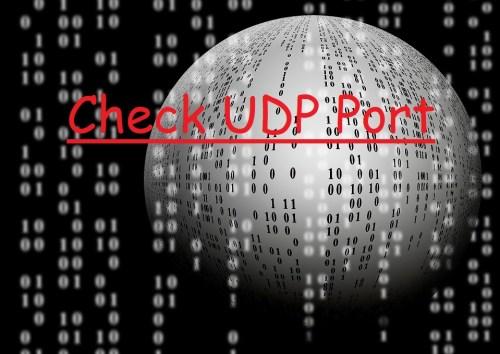 Check udp port open