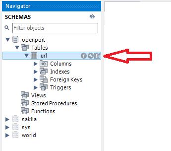 MySQL table icon