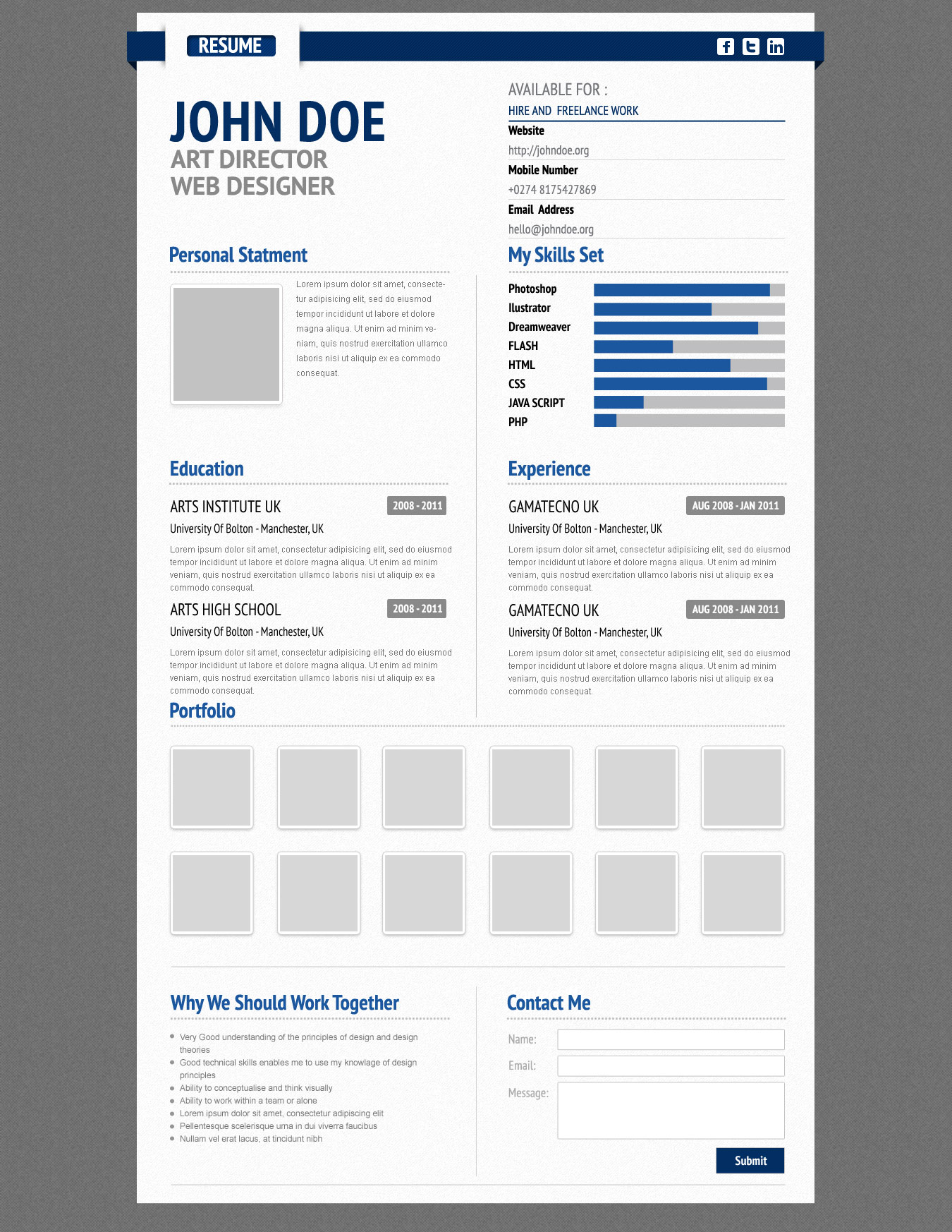 Resume Psd Template Virtual Resume Template Psd Open Resume Templates