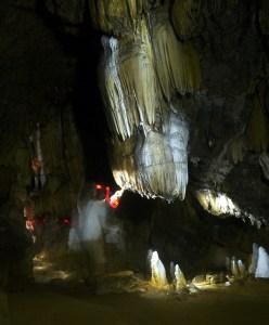 Exploring Long Cave before visiting a Karen village