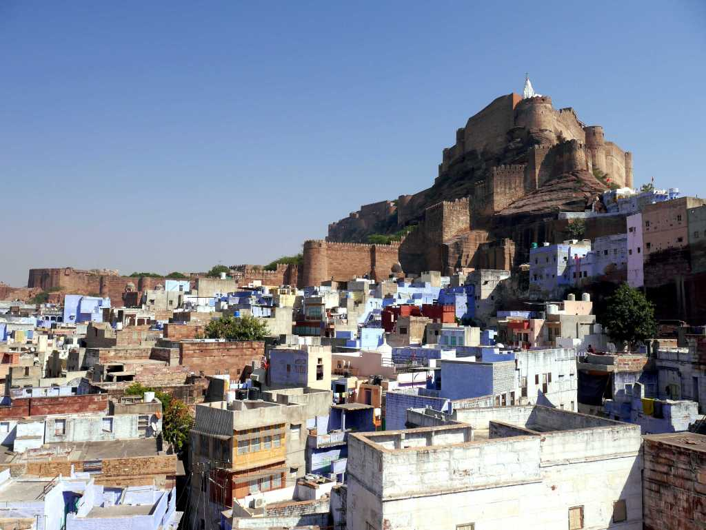 Mehrangarh Fort over the blue city of Jodhpur