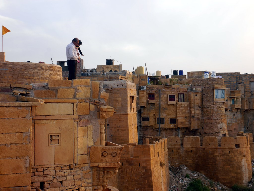 Atop the Walls of Jaisalmer
