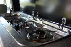 2-Ring Gas Hob and Sink unit.
