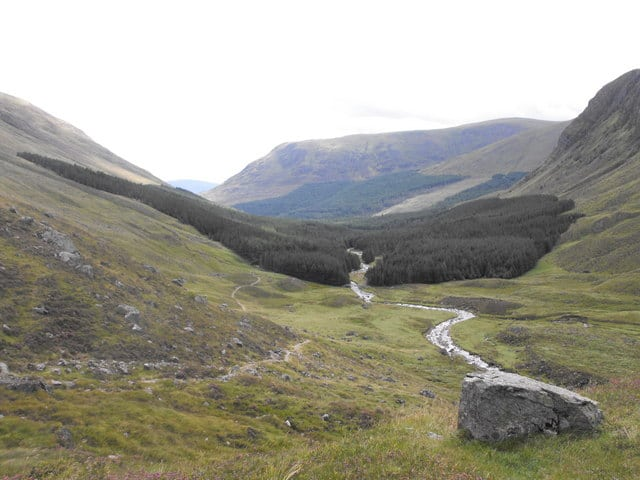 Path from Glen Doll to Glen Clova. Pic credit: Dona Robbins