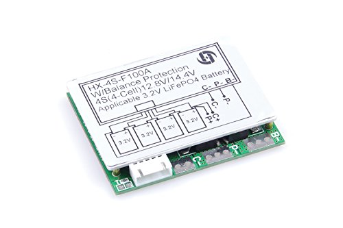 4S 100A 12V LiFePO4 Lithium Battery Protection Board Iron