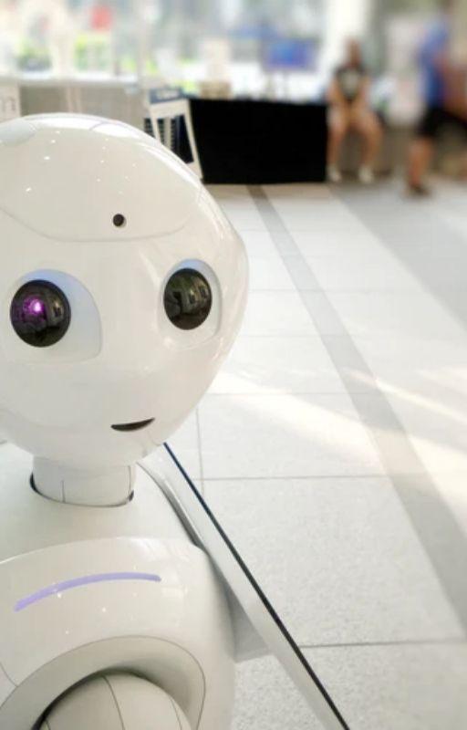 White robot action boy