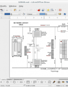 Screenshot of libreoffice draw opening up  visio vsd diagram also free and open source alternatives to opensource rh