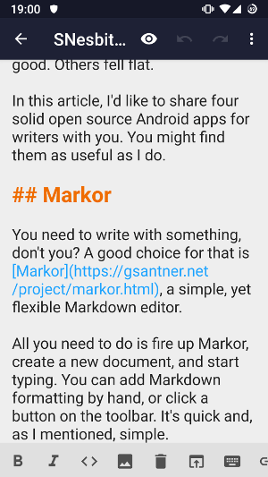 Markor app