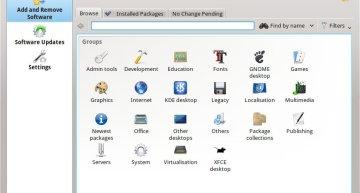 Figure 2: KPackageKit shows software groups