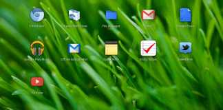 The application launcher screen