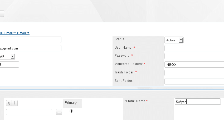 Figure 6: Creating a group mail account
