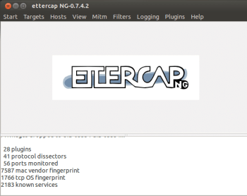 Screenshot1 Ettercap Menus