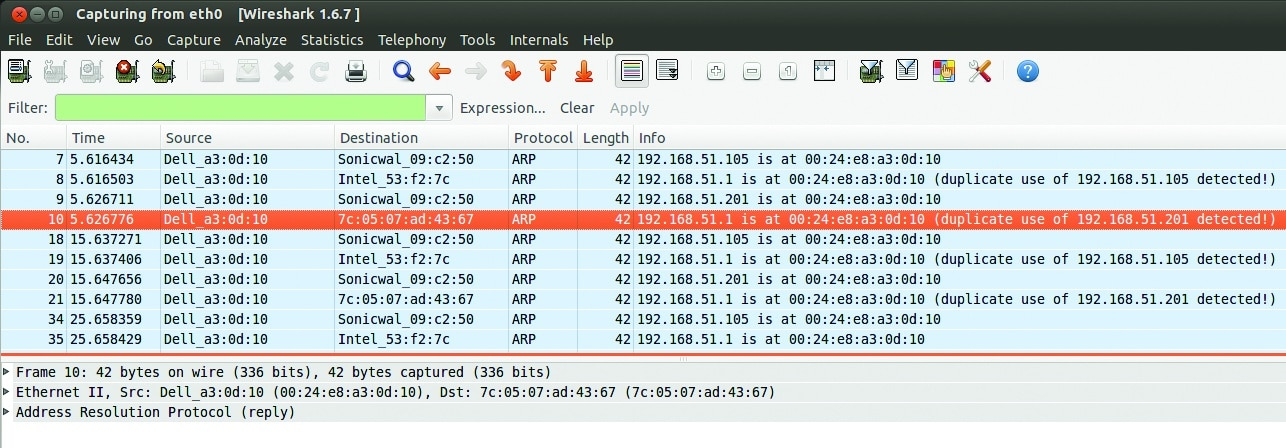 Use Wireshark to Detect ARP Spoofing