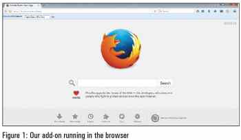 Add on running in the browser