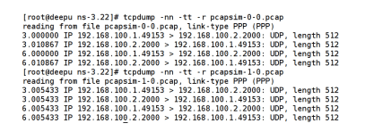 Figure 2 Output of tcpdump