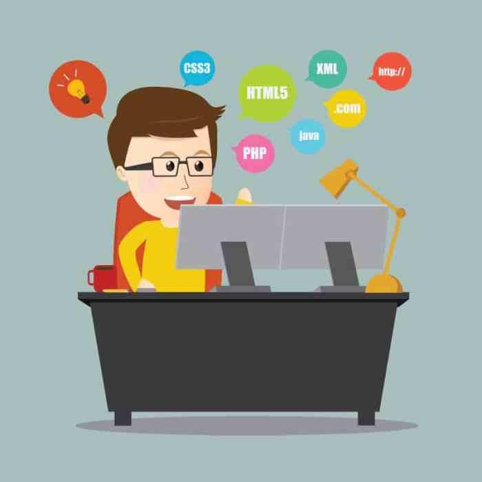 Programmer dotweb design on workstation desk_36956239_l
