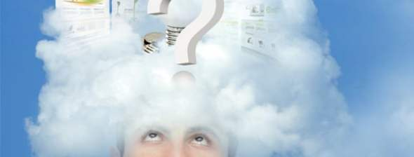 Young man with the head in the clouds thinking_15259762_xl