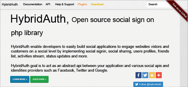 HybridAuth: An open source social sign-on library for web