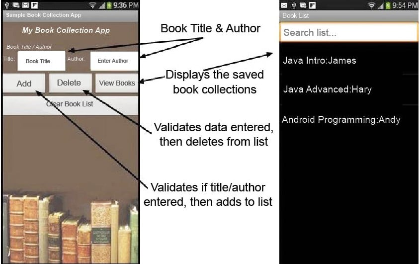 My Library Application in App Inventor 2