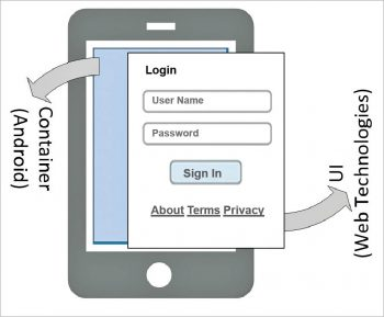 Figure 1 Mobile hybrid application