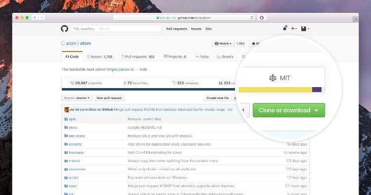 GitHub licenses