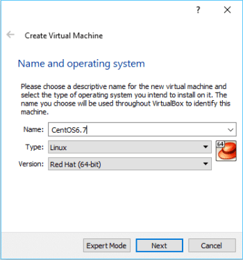 Figure 2 Virtual Box Create VM