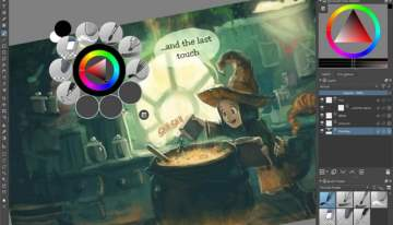 Krita painting app enhances experience for GIMP files