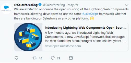 Salesforce Open Sources its Lightning Web Components Framework