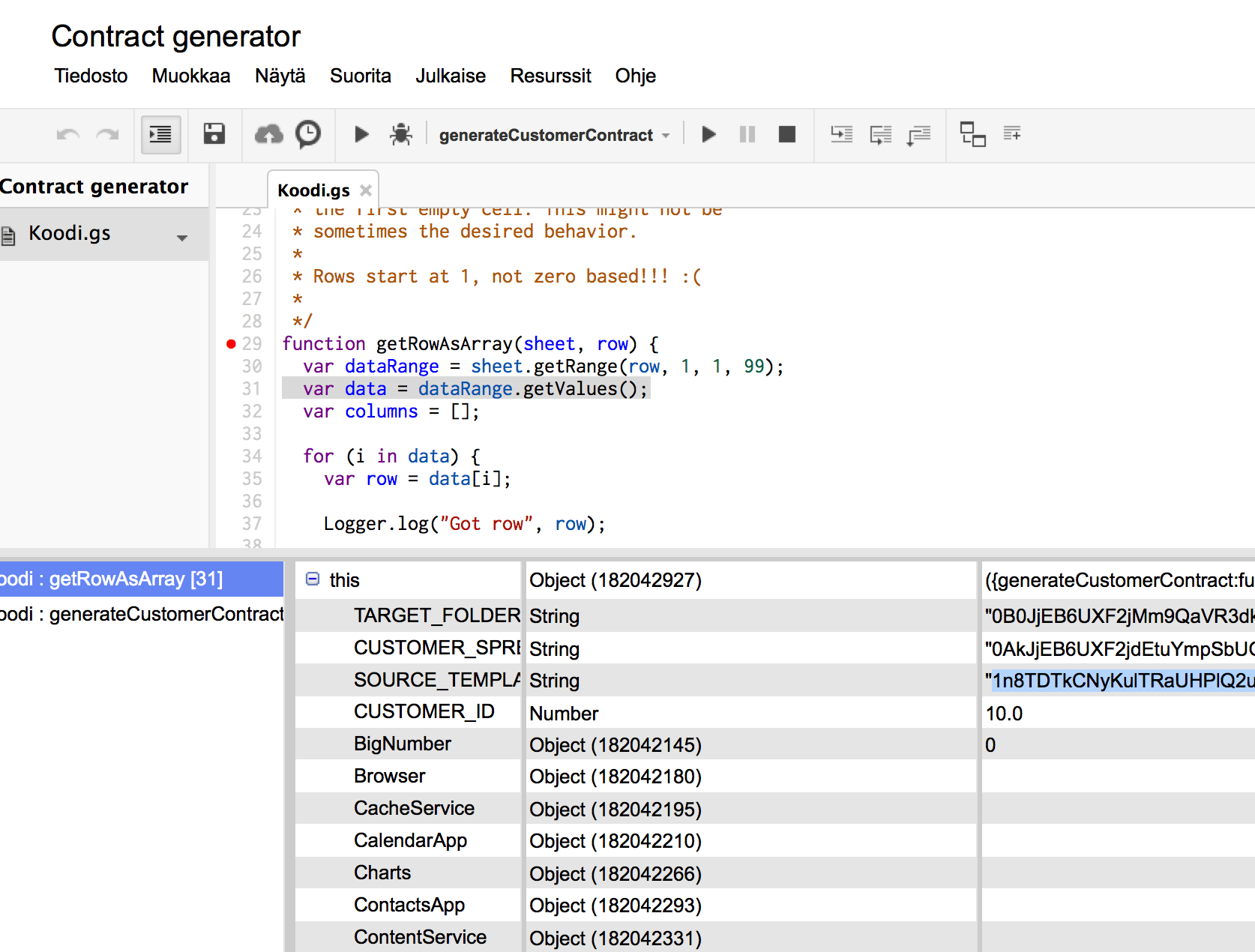 A Script For Generating Docs From Spreadsheet Data