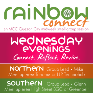 MCC Quezon City's Rainbow Connect - A BIble Reflection Group for LGBT+ Christians