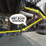 You may go down from MRT Boni Station.
