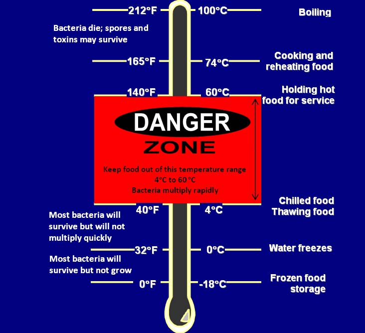 Celsius Refrigerator Temperature Chart