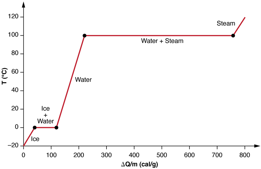 phase change of water diagram typical animal cell labeled and latent heat college physics the figure shows a two dimensional graph with temperature plotted on vertical axis from