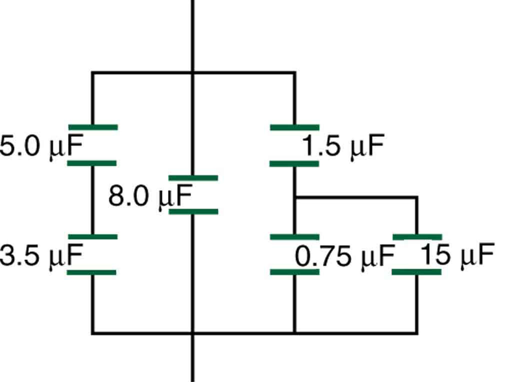 single phase motor wiring diagram with capacitor online capacitors in series and parallel college physics the figure shows a circuit that is combination of connections