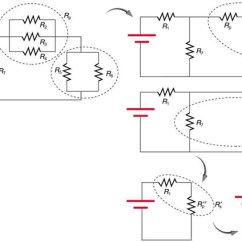 2 Way Intermediate Lighting Circuit Wiring Diagram Range Rover P38 Air Suspension Resistors In Series And Parallel College Physics The Has A Set Of Five Circuits First Combination